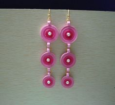 Two coloured Long hanging earrings Hanging Earrings, Washer Necklace, Color, Jewelry, Colour, Jewlery, Jewels, Jewerly, Jewelery