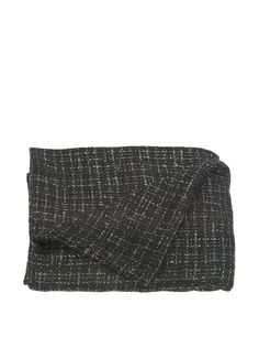 Uptown Down Bouclé Throw, Black/Silver at MYHABIT