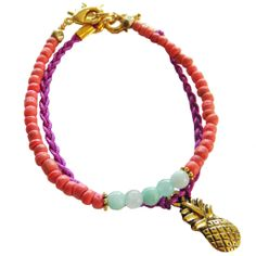 Pineapple & Coconuts bracelets http://www.bysoos.nl/a-37516230/armbanden/coconuts/