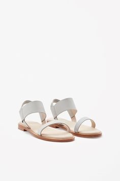 COS | Leather strap sandals Low Heel Shoes, Wedge Shoes, Shoes Heels, Shoes Photo, Only Shoes, Girls Sandals, Beach Shoes, Distressed Leather, Comfortable Fashion