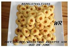 verskeie koekie resepte soos ouma dit gemaak het Kos, Baking Recipes, Cookie Recipes, Dessert Recipes, Baking Tips, Baking Ideas, Sweet Tea Recipes, Quick Recipes, Yummy Cookies