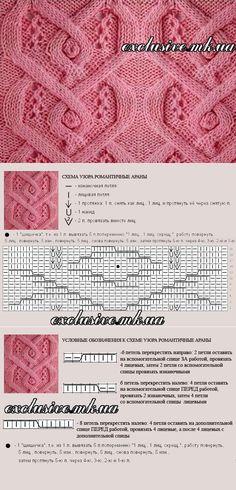 Узор 13 романтичные араны   Салон эксклюзивного вязания