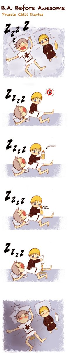 Chibi Prussia 11! .......and now we know....oh Holy Rome your such a stinker.