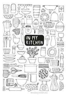 In my kitchen doodle by ankepanke.nl