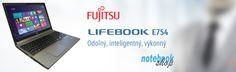 Ľahké a odolné business notebooky Lifebook E754, E744, E734 s vymeniteľnou mechanikou, vyborným zabezpečením a ochranou dát.