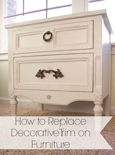 Replacing decorative trim on furniture is easier than you might think, in no time flat you can give an old worn out piece of furniture new life.