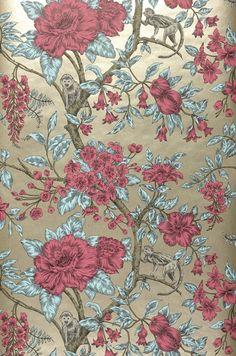 Soraya | Floral wallpaper | Wallpaper patterns | Wallpaper from the 70s