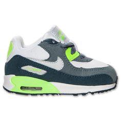 newest d6c17 3baa8 Nike Air Max 90 - Girls  Toddler - White Pink Glow Atomic Mango Metallic  Silver   Nike shoes   Pinterest   Nike, Toddler girl and Kids fashion