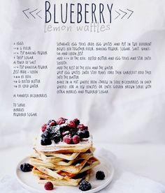Blueberry Lemon waffles food recipe recipes easy recipes breakfast recipes recipe ideas