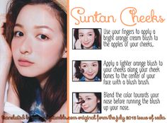 Suntan Cheeks from the July 2013 issue of Seda.
