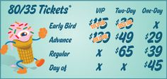 Buy your advance #8035 tickets today (5/15) before midnight for a lower price!