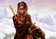 """""""Shiba Tsukimi, Phoenix Clan Champion,"""" by Conceptopolis"""