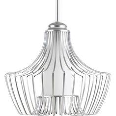 Finn Metallic Silver 15-Inch One-Light Pendant