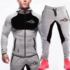 New Mens Tracksuit Set-Fleece Hoodie Top Bottoms Jogging Gym By Active Life Mens Tracksuit Set, Mens Joggers, Athleisure, Gym Outfit Men, Track Suit Men, Gym Style, Fleece Hoodie, Swagg, Mens Fitness