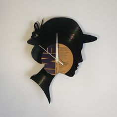 Ladie Vinyl Wall Clock