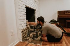 REMOVING OUR FIREPLACE'S BRICK HEARTH
