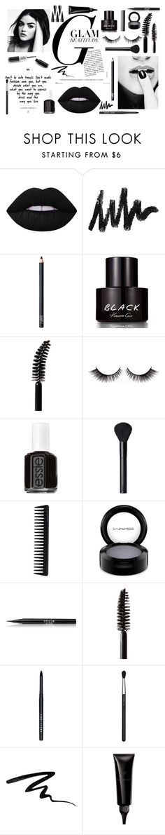 """""""BlAcK"""" by noboringpeople ❤ liked on Polyvore featuring Lime Crime, NARS Cosmetics, Kenneth Cole, LORAC, Essie, GHD, MAC Cosmetics, Stila, Chanel and Bobbi Brown Cosmetics"""