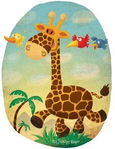 Giraffe by Alexander Golubev, via Behance