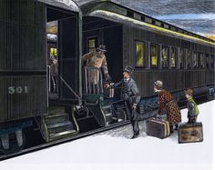 The Train They Call the City Of New Orleans by Steve Goodman, scratchboard illustrations by Michael McCurdy