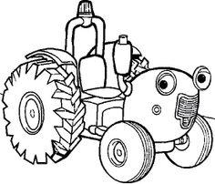 Cartoon Car Tractor Coloring Page - Cartoon Car car coloring pages