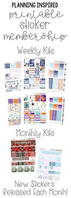 Join the Planning Inspired Printable Planner Sticker Membership- I release new weekly & monthly kits, plus functional planner stickers each month!