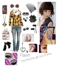 """Fawn"" by choco-fresa ❤ liked on Polyvore featuring Rock & Republic, Issey Miyake, Wet Seal, Anya Hindmarch, Stephen Webster, The North Face, Black, Vans and Witch Worldwide"
