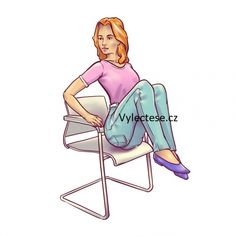 6 workout routines for a flat abdomen to do sitting on a chair Abdominal Exercises, Abdominal Muscles, Belly Exercises, Flat Stomach, Flat Belly, Detox Cleanse For Bloating, Chair Exercises, Senior Fitness, Going To The Gym