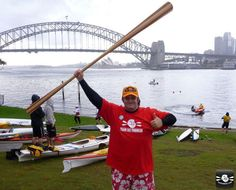 Sean Smith (AKA The Fat Paddler) with his Joe O' Greenland Paddle over in Australia.