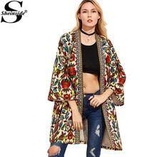 bd45158a892 Sheinside Европейский тренч для женщин одноцветное пальто для будущих мам  красочные открытым спереди верхняя одежда с