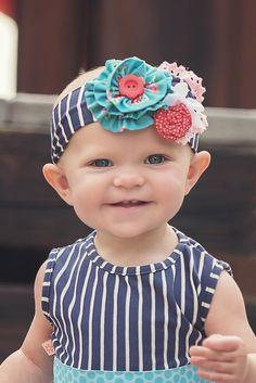 Everly Headband (S16) Cute headband for babies. We love big over the top headbands!