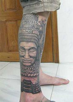 bayon temple angkor wat tattoo