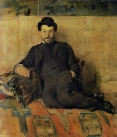 "TOULOUSE-LAUTREC, Portrait de GUSTAVE LUCIEN DENNERY,PEINTRE, NOT ""Self Portrait, 1883 // by Toulouse-Lautrec"""