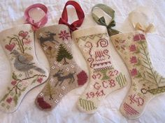 Katrina's Blackbird Designs stockings. Her site has some really gorgeous cross stitch!