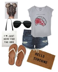 """Sunday BBQ"" by meliemoo on Polyvore featuring 3x1, The Vintees T-Shirts Co., Forever 21 and American Eagle Outfitters"