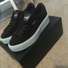 Womens shoes: Rihanna Puma Creepers Rihanna Fenty Puma Creepers// Never worn before Puma Shoes Sneakers Sock Shoes, Cute Shoes, Me Too Shoes, Puma Sneakers, Shoes Sneakers, Shoes Heels, Sneakers Workout, Sneakers Fashion, Rihanna Puma Creepers