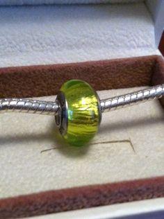 Light Green 925 Murano Glass Bead on Etsy, $1.75