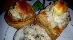 Blogul lui Catalina: Vol-au-vent cu pui și ciuperci