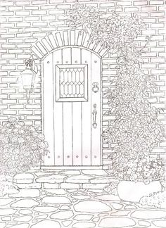 Could Be Fun To Cut The Door So It Opens And Draw Something On Another Paper Behind Art Sub ActivityColoring For Adults