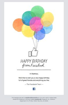 Just A Simple Happy Birthday Message Email Newsletter Design Newsletters