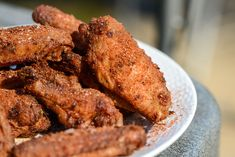 Memphis Dry Rub Wings Crispy, juicy grilled wings are given the Memphis dry rub treatment to create a uniquely earthy, spicy, and herbal flavor with a slight tang to back it up. Swap brown sugar for coconut sugar maybe Dry Rub Wings, Dry Rub Chicken Wings, Chicken Wing Recipes, Baked Chicken, Grilled Chicken, Chicken Ideas, Roast Chicken, Rotisserie Chicken, Chicken Recipes