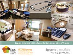 Cupron Enhanced EOS Surfaces At Sentara Leigh, Norfolk VA.