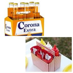 Great idea for a BBQ party! The secret is the save your empty beer holders. #SummerSecretsContest