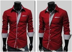 Red Button Up Shirt Mens | Is Shirt