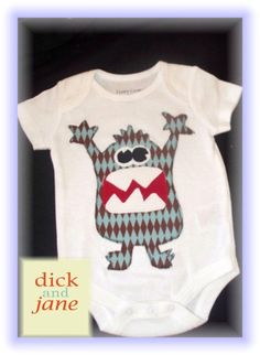 Monster Onesie for Baby - by Debra #babies #sewing #monster