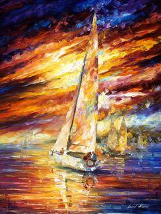 SAILING TO THE HORIZON -  Oil Painting On Canvas By Leonid Afremov - http://afremov.com/SAILING-TO-THE-HORIZON-Original-Oil-Painting-On-Canvas-By-Leonid-Afremov-40-X30-SKU19784.html?bid=1&partner=20921&utm_medium=/vpin&utm_campaign=v-ADD-YOUR&utm_source=s-vpin