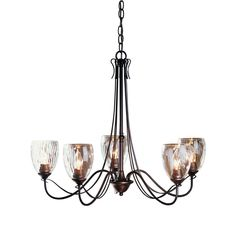 Chandelier, Hubbardton Forge 5 light trellis, Handcrafted in Vermont, USA  | eBay