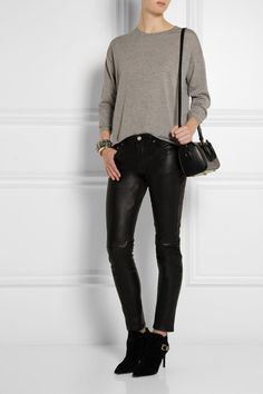 Saint Laurent - Stretch-leather skinny pants