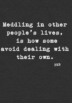 Meddlin' = A great Southern term that's used when folks are offering unsolicited advice or assistance and the underlying ulterior motive is always that they think they can take care of it better than you. Quotes For Kids, Great Quotes, Quotes To Live By, Inspirational Quotes, Mind Your Own Business Quotes, Minding Your Own Business, True Quotes, Words Quotes, Funny Quotes
