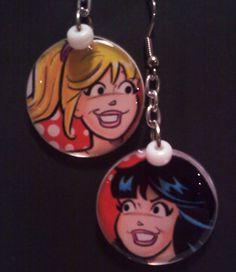 Geek Jewelry Betty & Veronica Earrings by SweetgyrlDesigns on Etsy, $5.00