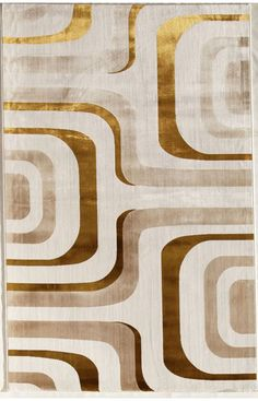 Rugs America Ambrose Flo Gold Rug | Contemporary Rugs